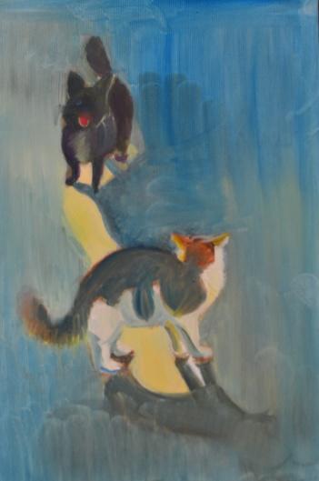 illust. 2, oil on paper 2014, Maria Viidalepp