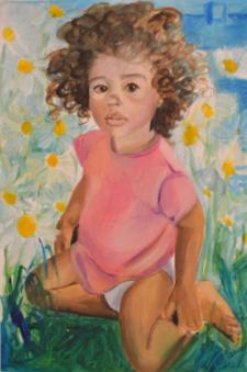 Lil Maara, oil on paper 2014, maria viidalepp