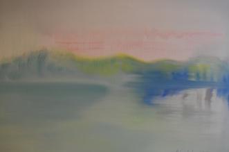 A Lake, oil on vanvas 2013, Maria Viidalepp