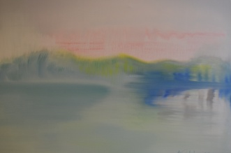 A Lake, oil on vanvas 2013, Maria Viidalepp
