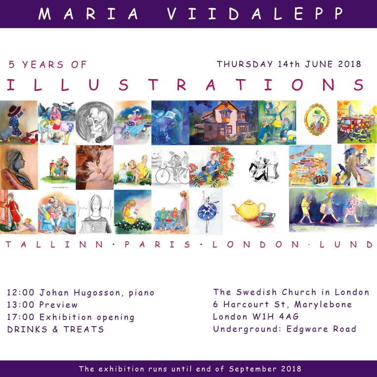 Exhibition, 5 Years of Illustrations, Maria Viidalepp 2018